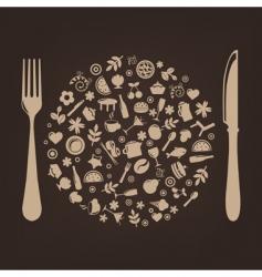 Restaurant background vector