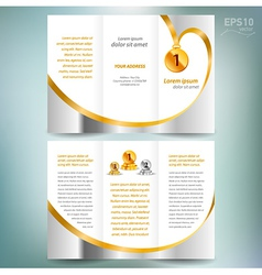 Brochure design template leaflet award winner vector