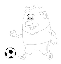 Soccer with ball contour vector