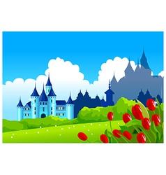 Castle landscape vector