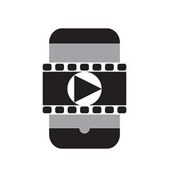 Smart phone movie vector