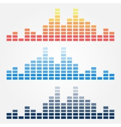 Minimal sound waves icons vector