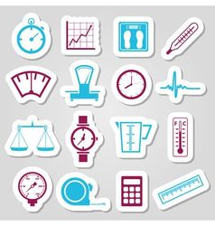 Measuring stickers vector