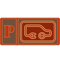 Electrical vehicle parking sign vector