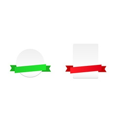 Banners with ribbon vector