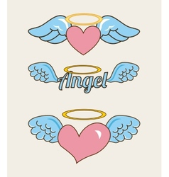 Angel baby vector