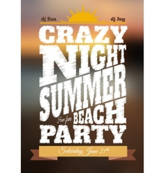 Summer night party poster vector
