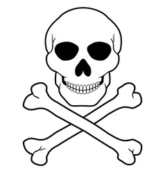 Pirate skull and crossbones 01 vector