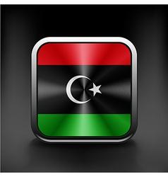 Flag of libya icon world country symbol vector
