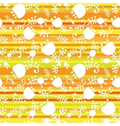 Floral on color stripes seamless vector