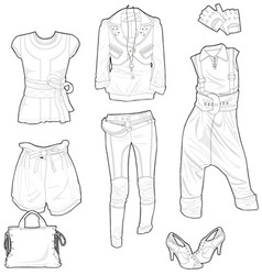 Clothing skech vector