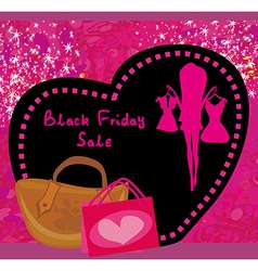 Black friday sale card vector