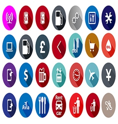 Icons for service in a flat style vector