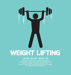 Weight lifter athlete vector