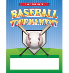 Baseball tournament flyer vector