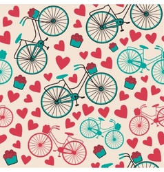 Bicycle texture hipster background vector