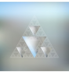 Triangular pattern with the reflection of vector