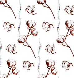 Cotton pattern vector