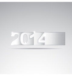 New year 2014 tittle vector