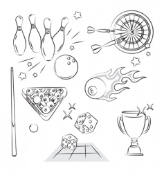 Games set vector