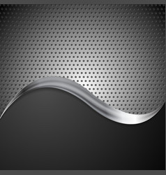 Abstract perforated metal background and steel vector