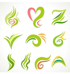 Natural green icon vector
