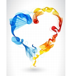 Abstract wave heart vector