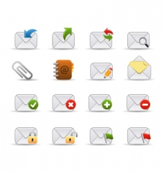 Mail icons  smooth series vector