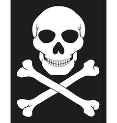 Pirate skull and crossbones 02 vector
