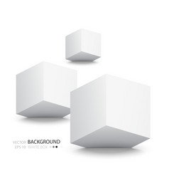 White cubes isolated on white background vector