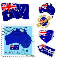 National colours of australia vector