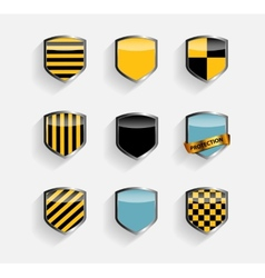 Protect shield set vector