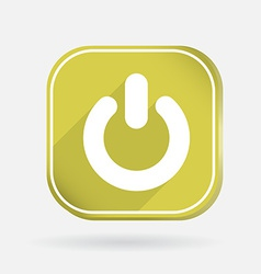 Power sign on off color square icon vector