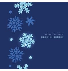 Glitter snowflakes dark vertical frame seamless vector