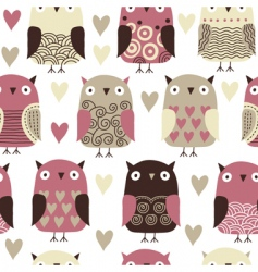 Owl pattern vector