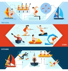 Water sports banners vector