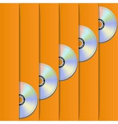 Disc pockets vector