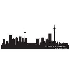 Johannesburg south africa skyline detailed silhoue vector