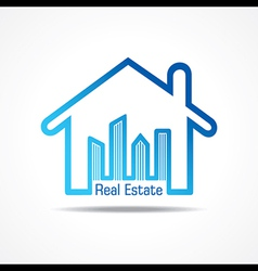 Real estate icon for sale property concept vector