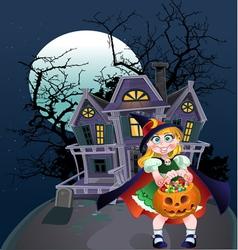 Halloween trick or treaters vector