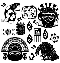 Ancient american pattern vector