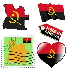 National colours of angola vector