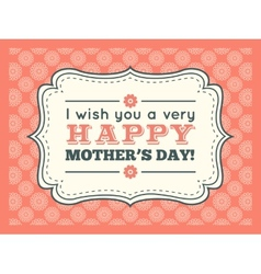 Happy mothers day typography letter font type vector