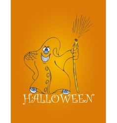 Halloween backgrounds with ghost vector