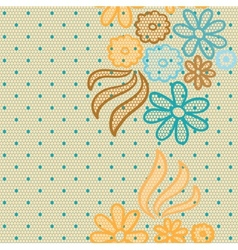 Gentle lace fabric seamless pattern vector