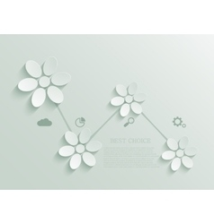 Modern green flowers infographic background vector
