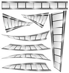 Film tape color art vector