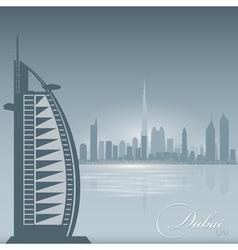 Dubai uae skyline city silhouette background vector