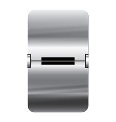 Alphabet silver flipboard letters minus vector