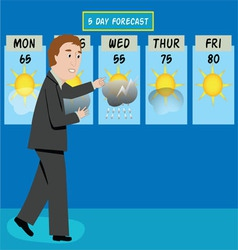 Weather man vector